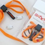 Image of Greeper Flats shoelaces in a bold orange colour.