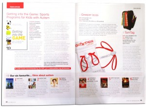 austism magazine 01 300x223 Greeper Laces featured in Your Autism Magazine