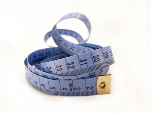 image of a blue tape measure