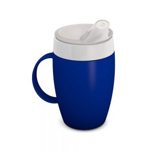 Image of the blue version of the Ornamin Thermo Safe Mug