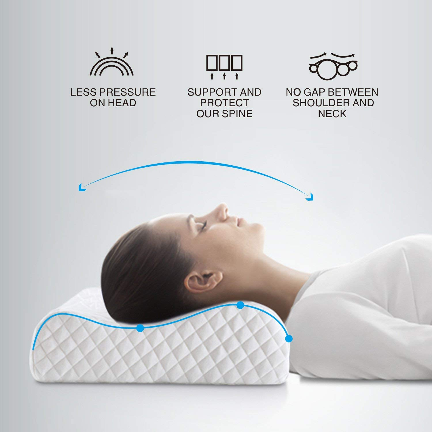 Z Gel Memory Foam L Shape Pillow For